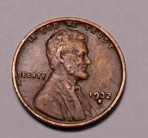 1932 D LINCOLN WHEAT CENT PENNY   NOT STOCK PHOTOS
