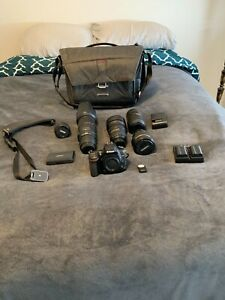 NIKON D750 24.3MP DSLR CAMERA 5 LENSES MEMORY CARDS CAMERA BAG AND MORE
