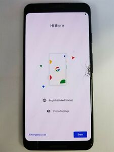 GOOGLE PIXEL 3 64GB BLACK G013A  UNLOCKED  DAMAGED READ CAREFULLY MD1737