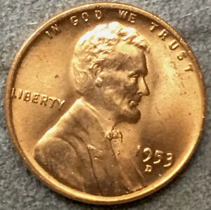 1953 D UNCIRCULATED BU RED RD LINCOLN WHEAT CENT PENNY   FREE SHIP. A278