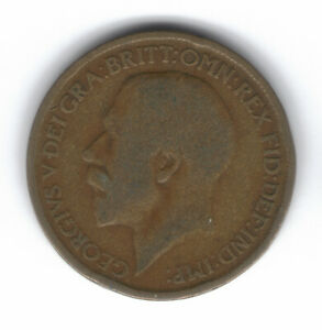 GREAT BRITAIN 1/2 PENNY 1916