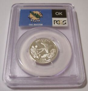 Click now to see the BUY IT NOW Price! PCGS 2008 S SILVER OKLAHOMA STATE QUARTER UNC PR70 DCAM FLAG