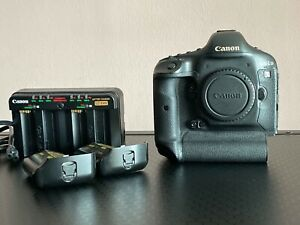 CANON EOS 1D X 18.1MP DIGITAL SLR CAMERA   BLACK  BODY ONLY  USED