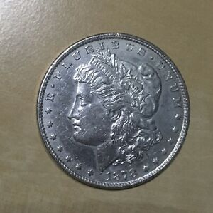 1878 8TF AU MORGAN SILVER DOLLAR