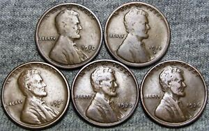 1910 S 1915 S 1920 S 1925 D 1926 D LINCOLN CENT    NICE LOT      T323