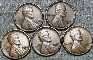 1914 S 1916 S 1921 S 1925 D 1926 D LINCOLN CENT    NICE LOT      T325