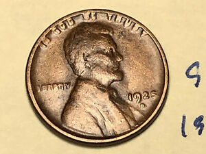 1925 D 1C BN LINCOLN CENT WHEAT PENNY BETTER DATE 9628W