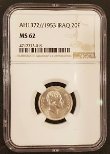 Click now to see the BUY IT NOW Price! IRAQ 20 FILS  COIN NGC MS 62 UNC