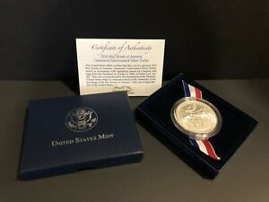 2010 BOY SCOUTS OF AMERICA UNC SILVER DOLLAR W/ CERTIFICATE OF AUTHENTICITY