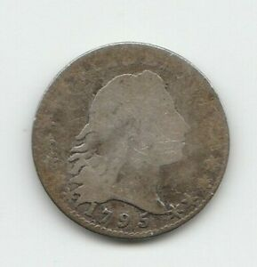 1795 FLOWING HAIR US HALF DIME