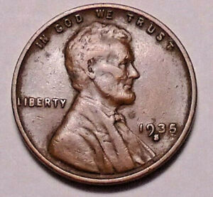 1935 S LINCOLN WHEAT PENNY CENT