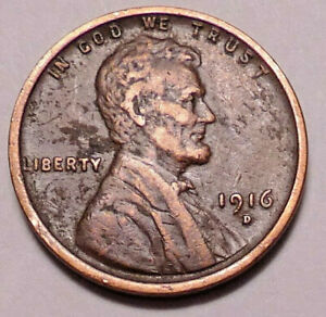 1916 D LINCOLN WHEAT CENT PENNY   NOT STOCK PHOTOS