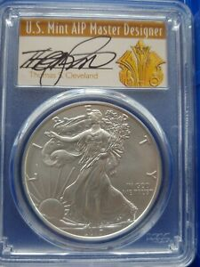 Click now to see the BUY IT NOW Price! DUBAI READY.POP 1. 2017 W CLEVELAND FIRST STRIKE HAND SIGNED SP70 SILVER EAGLE