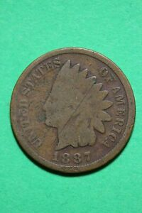 1887 INDIAN HEAD CENT PENNY EXACT COIN SHOWN FLAT RATE SHIPPING OCE 444