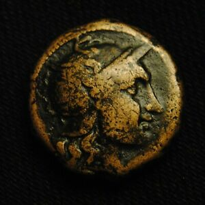 Click now to see the BUY IT NOW Price! 21 PELLA MACEDONIA HELMETED ROMA RV EH IN WREATH 10.91 GRAM 21MM 187 31 BC