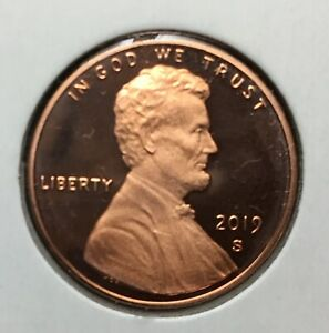 2019 S PROOF LINCOLN SHIELD CENT PENNY FROM US MINT PROOF SET