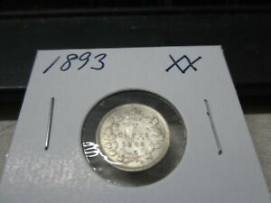 1893   CANADA SILVER NICKEL   CANADIAN 5 CENT