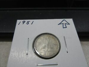 1951   CANADA SILVER DIME   CANADIAN 10 CENT COIN