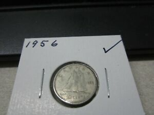 1956   CANADA SILVER DIME   CANADIAN 10 CENT COIN