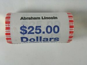 2010 D UNC.  ABRAHAM LINCOLN PRESIDENTIAL  $25 ROLL HEADS AND HEADS
