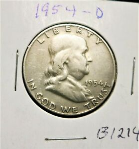 1954 D FRANKLIN HALF DOLLAR    B1214