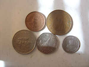 LOT OF 5 BAILIWICK OF JERSEY COINS 1/2/5/10 /20   PENCE