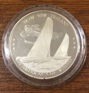 1995 AMERICA'S CUP WINNER: TEAM NEW ZEALAND 2.5OZ SILVER PROOF COIN