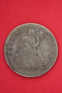 1854 P SEATED LIBERTY QUARTER EXACT COIN PICTURED FLAT RATE SHIPPING OCE016