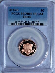 Click now to see the BUY IT NOW Price! 2013 S  LINCOLN SHIELD CENT  PCGS PR70RD DCAM   NO SPOTS TONING. OR HAZING