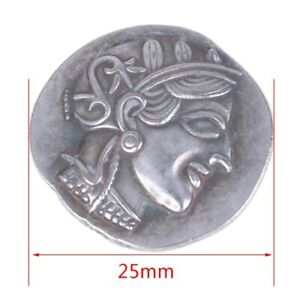 COIN PLATED ANCIENT GREEK SILVER TETRADRACHM ATHENS OWL.450 BC
