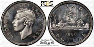 1950 ARNPRIOR SILVER DOLLAR $1 PCGS MS 64  BRIGHT & STRONG LUSTER