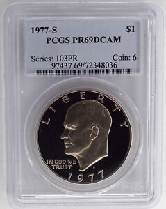 1977 S PROOF EISENHOWER DOLLAR PCGS PR69DCAM
