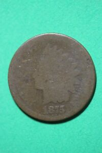 1875 INDIAN HEAD CENT PENNY BRONZE EXACT COIN SHOWN FLAT RATE SHIPPING OCE1083
