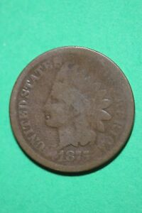1875 INDIAN HEAD CENT PENNY BRONZE EXACT COIN PICTURED FLAT RATE SHIPPING OCE888