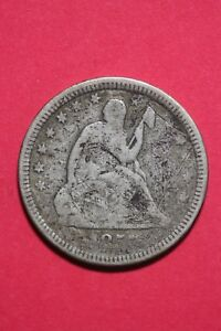 1857 P SEATED LIBERTY QUARTER EXACT COIN PICTURED FLAT RATE SHIPPING OCE068