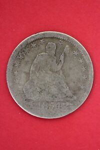 1854 P SEATED LIBERTY QUARTER EXACT COIN PICTURED FLAT RATE SHIPPING OCE028
