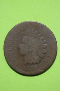 LOW GRADE 1875 INDIAN HEAD CENT EXACT COIN SHOWN FLAT RATE SHIPPING OCE 112