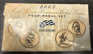 Click now to see the BUY IT NOW Price! 2007 US MINT FIRST SPOUSE LADY BRONZE MEDAL 4 SET