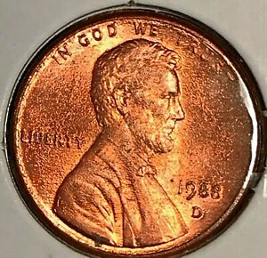 1988 D LINCOLN CENT   SMALL BLISTERS BOTH SIDES
