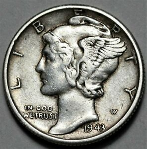 1943 S MERCURY DIME  >> US SILVER 10C COIN <<  FLAT RATE SHIPPING