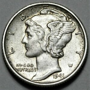 1941 S MERCURY DIME  >> US SILVER 10C COIN <<  FLAT RATE SHIPPING