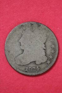 1834 CAPPED BUST DIME SILVER COIN EXACT COIN SHOWN LOW GRADE COIN OCE 45