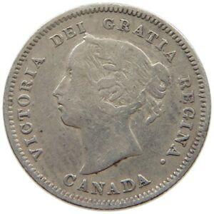 CANADA 5 CENTS 1888 S8 581