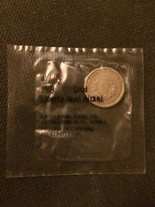 1909 5C LIBERTY HEAD NICKEL SEALED IN LITTLETON COIN CO. CELLOPHANE LHN09G01