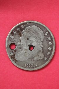 1832 CAPPED BUST DIME SILVER COIN EXACT COIN SHOWN LOW GRADE COIN OCE 25