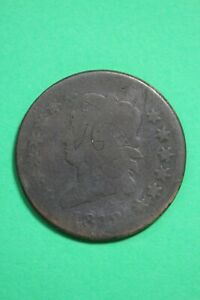1812 CLASSIC HEAD LARGE CENT LOW GRADE EXACT COIN SHOWN FLAT RATE SHIP OCE 77
