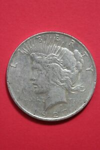 1927 D LIBERTY PEACE SILVER DOLLAR EXACT COIN SHOWN COMBINED SHIPPING OCE 117
