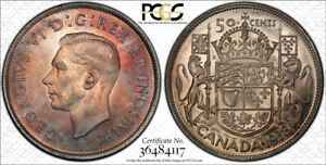 1938 FIFTY CENTS 50 PCGS MS 64   SUPERB REDDISH TONES