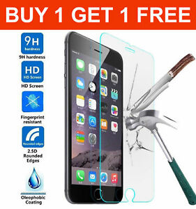 TWO GENUINE TEMPERED GLASS SCREEN PROTECTOR FOR APPLE IPHONE 7