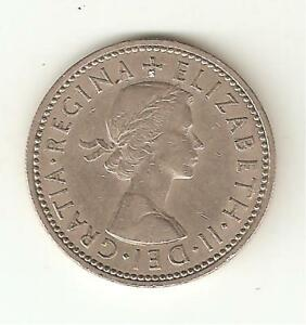 1960 QUEEN ELIZABETH II ONE SHILLING COIN   1/